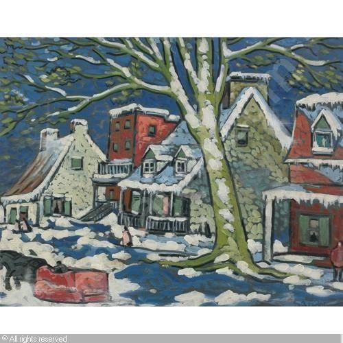 marc aurele fortin winter paintings