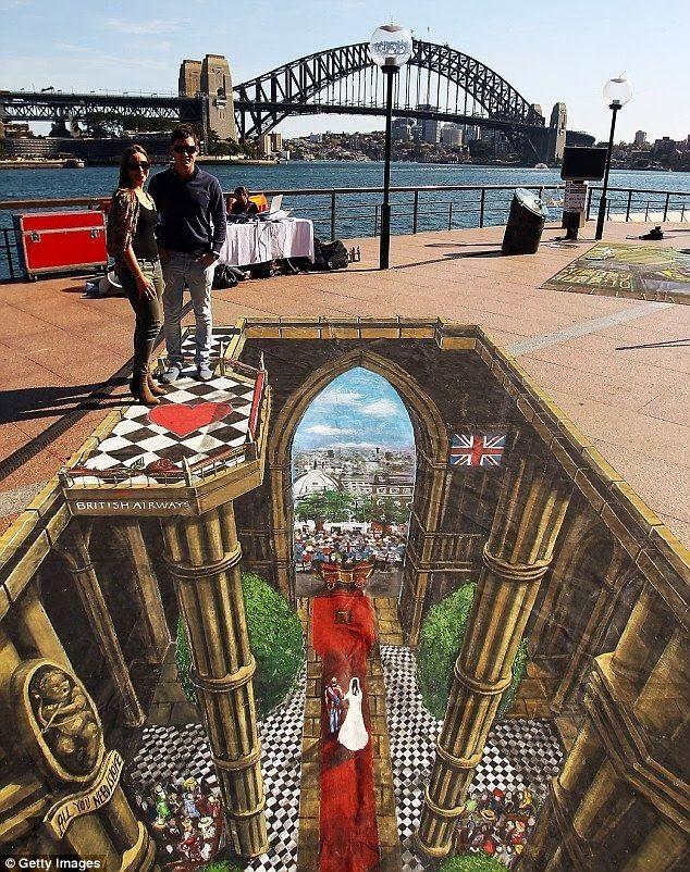 The Infinite Gallery : Royal Wedding 3D Pavement Art