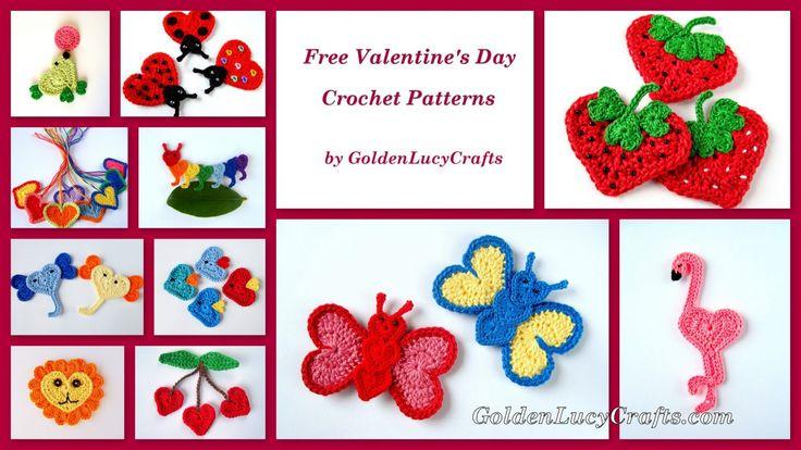 Бесплатные вязания крючком День Святого Валентина