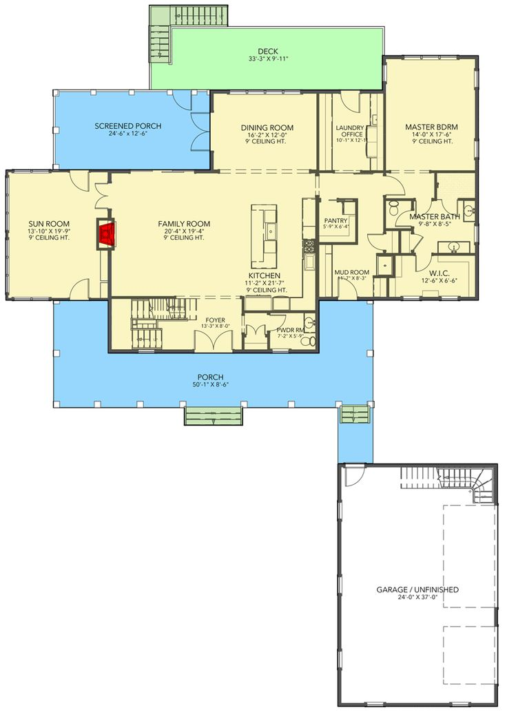 Beautiful TwoStory Home Plan with FirstFloor Master