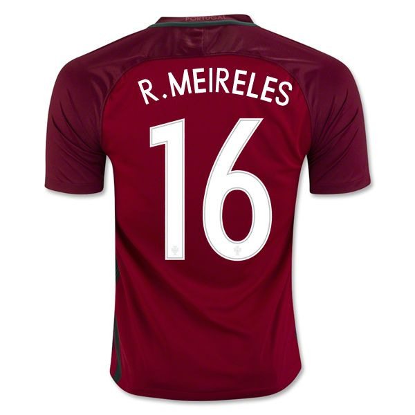 6ffba7204 Raul Meireles 16 2018 World Cup Portugal Home Soccer Jersey