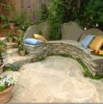 Rustic Wood or Stone Garden Benches?