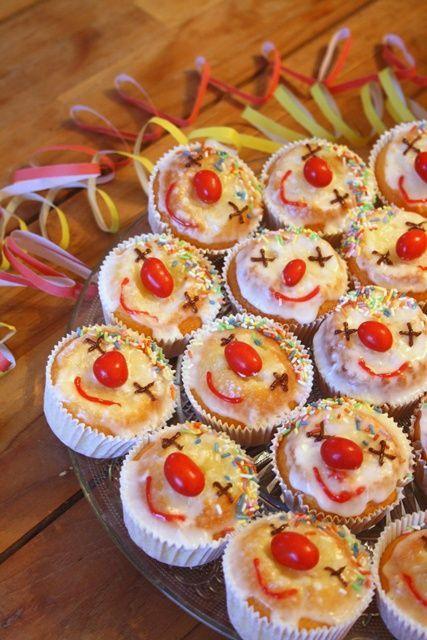 Lustige Idee für Faschings-Muffins //cara mia: Helau und Alaaf!
