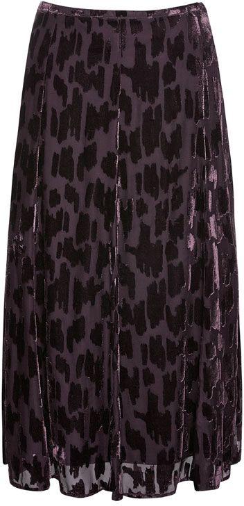 NONI B Velour Flacked Burnout Skirt $149.95 AUD  Side zip velour flocked shirt 80cm in length 65% rayon, 35% nylon  Item Code: 046450