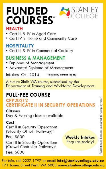 Funded Courses | Courses & Training | Gumtree Australia Perth City - Perth CBD | 1059241323