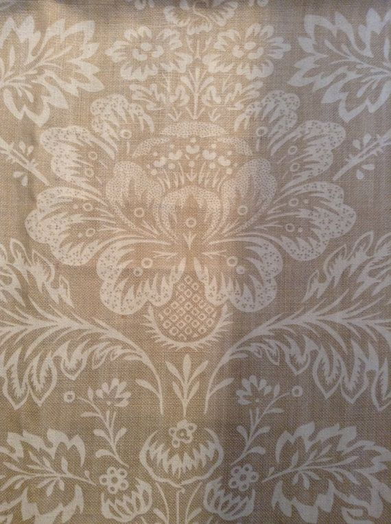 French country shabby chic Linen fabric by Cowtan and Tout pattern Cranworth. Could be good for curtains