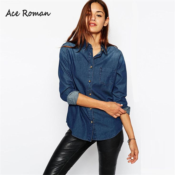 Find More Blouses & Shirts Information about 2016 Winter New Women Denim…