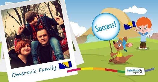 Arjana Cisic-Omerovic,profesor de Limbă și Literatură Engleză/ Americană și soțul său, Adnan, tehnician grafic, sunt mândrii părinți ai lui Arslan, un băiat de 8 ani care este elev Helen Doron English de aproape 5 ani. Familia locuiește în Sarajevo, Bosnia și Herțegovina și vorbește doar bosniacă acasă. Fiind o profesionistă în domeniu, Arjana ne-a povestit