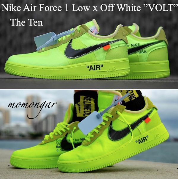 """The 10: Nike Air Force 1 Low """"Off White Volt"""""""