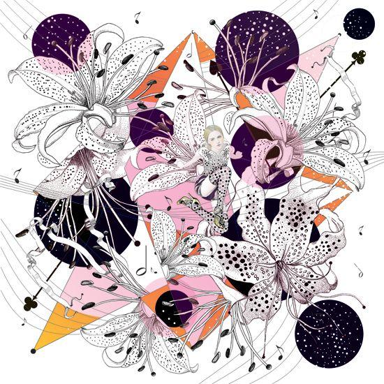 funFashion Scarves, Beautiful Illustration, Coco Illustration, Art, Scarves By Coco, Inspiration Things, Illustration Scarves, Silk Scarf, Silk Scarves