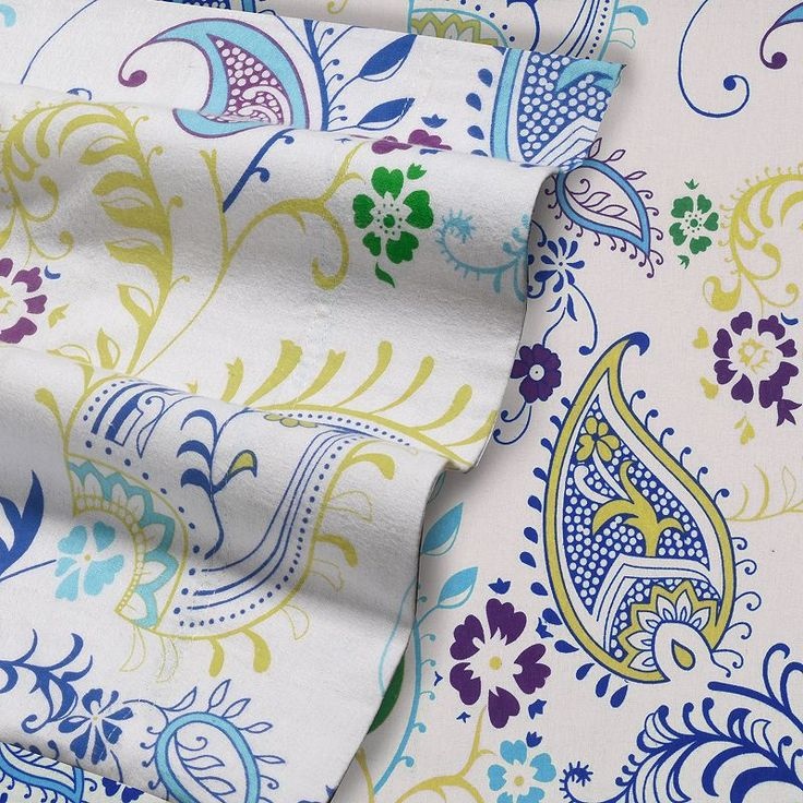 Flannel Deep-Pocket Sheets, Multicolor Cal King