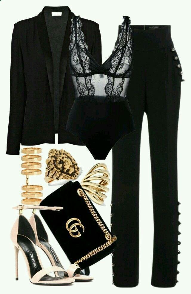 Woman All Black Outfits #woman #fashionoutfits #blackoutfit #fashiontrends #fashion #dressesforwomen #blackfashionblogger #blackfashion #fashiontrends2019