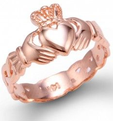 Rose Gold Claddagh. LOVE.
