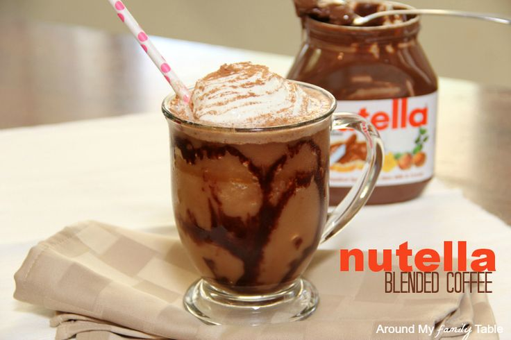 Nutella Blended Coffee Drink ... This sounds pretty awesome. Especially with homemade syrup and nutella. And without the tsp. of sugar. Because seriously, you're already using chocolate syrup and freaking NUTELLA. You do not need extra sugar here.
