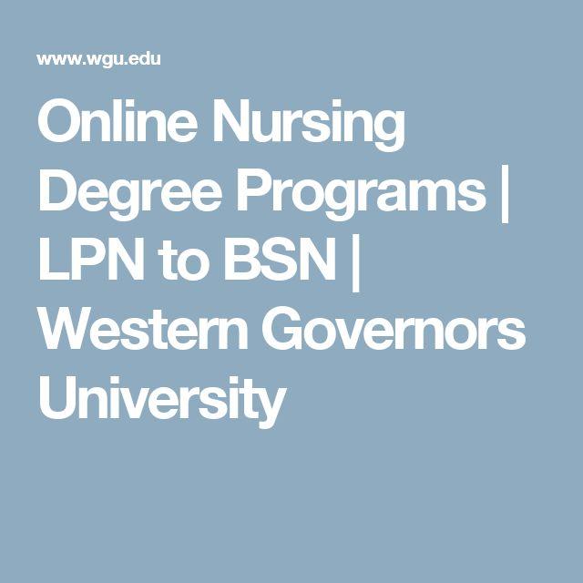 Online Nursing Schools Lpn To Bsn