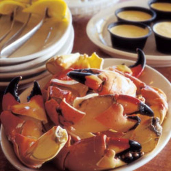 Though most often served chilled, stone crab claws are quite tasty when steamed and served still warm, doused in melted butter and lemon.