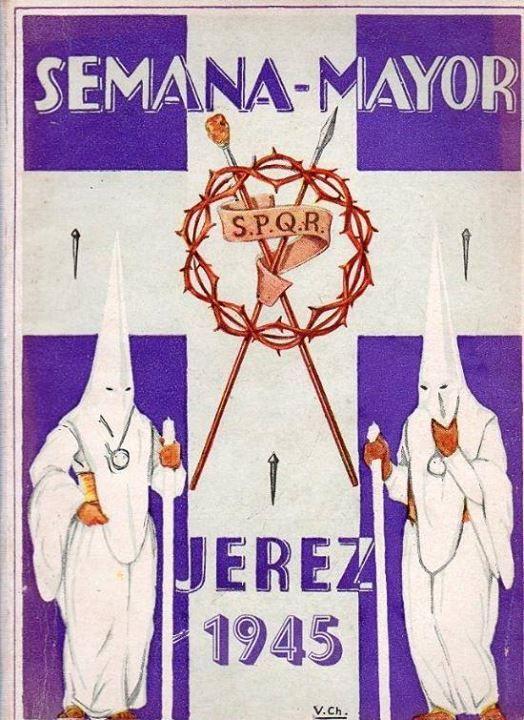 Cartel Seman Santa Jerez 1945  10374944_852577088090231_3452960461762517330_n.jpg 524×720 píxeles
