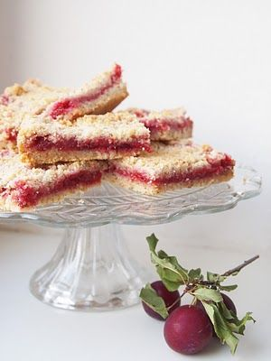 MAY ALL SEASONS BE SWEET TO THEE: So-Simple Linzer Torte Bars with Wild Plum Jam