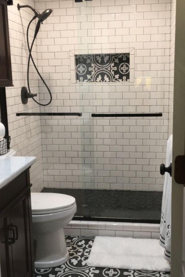 Popular Farmhouse Bathroom Tile Floor Decor Ideas And Remodel To