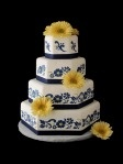 I love how the navy blue looks with the yellow gerber daisies.  Gerber daises go with everything.  clearly.