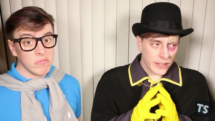 Patton and Deceit in Thomas sanders ' new video. Deceit is the new side we were just introduced to
