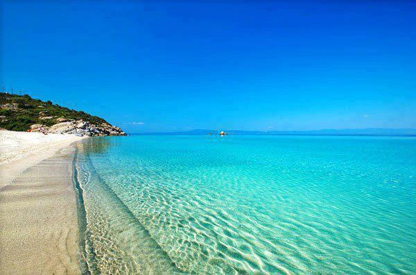 Boussoulas beach in Chalkidiki
