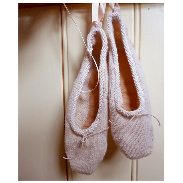Ravelry: Ballet slippers pattern by Claire Garland