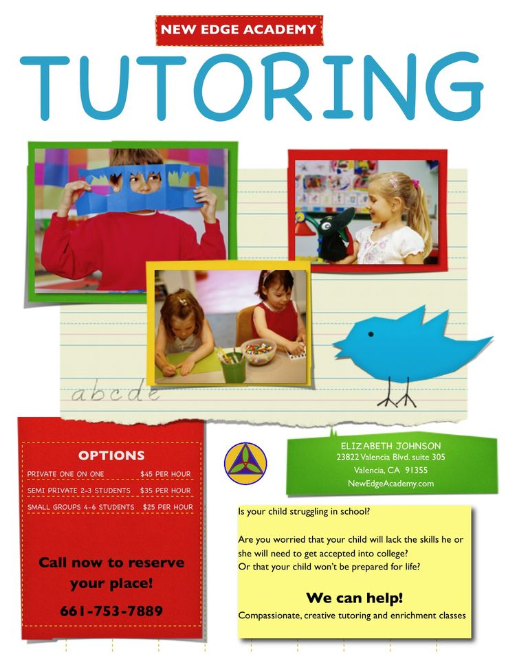 12 best tutoring pamphlets images on Pinterest | Flyers ...