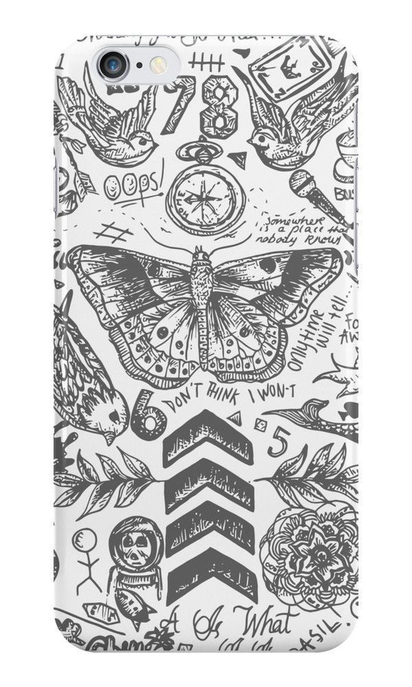 One Direction Tattoos For iPhone 6 Hard Case Cover - $19.90