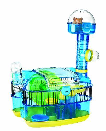 $29.20-$38.49 The Plaza is a Pet's dream play area!  The Plaza comes with Pop Ups, Petting Pod, Stay Fit Exercise Wheel, Durable Food Dish, Wraparound Wire Wall, Lookout, Modular, Add-A-Feature Design and the Dwarf Hamster Tube especially made for extra small pets.