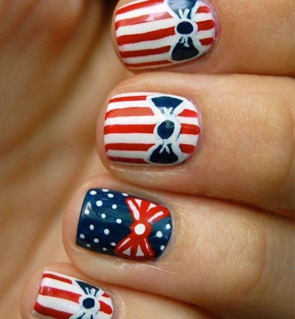 A girly girl version of flag inspired designs to still make your design more personalized.