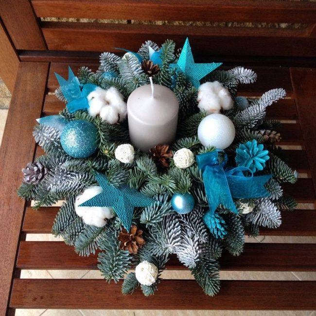 Stroiki świąteczne na Boże Narodzenie: ze świecą, z gałązkami świerkowymi, nowoczesne - Strona 8