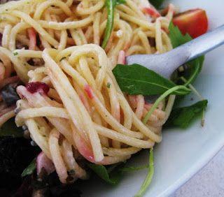Spaghetti remolacha