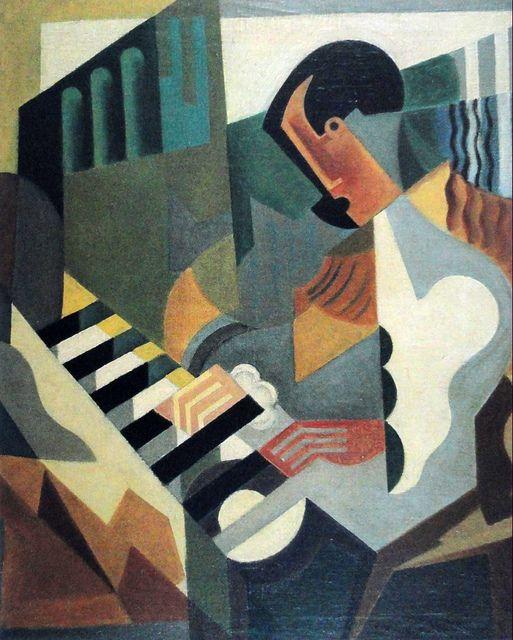 """MARIA BLANCHARD  1919 """"Pianist """"(Private Collection)  María Gutiérrez Blanchard fue una pintora española nacida en Santander (Cantabria) el 6 de marzo de 1881 y fallecida en París el 5 de abril de 1932."""