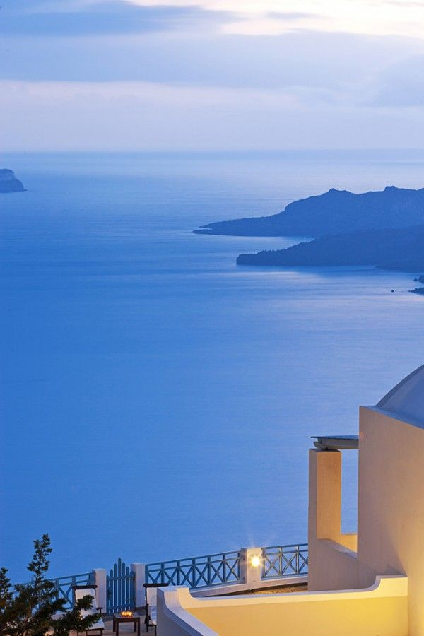 Aegean View from Fira, Santorini,Greece
