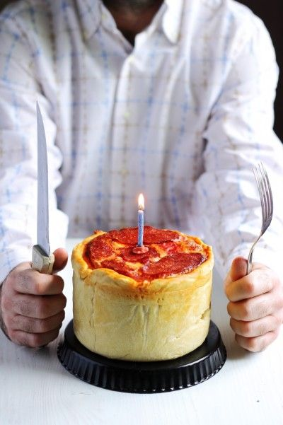This amazing Pizza Cake recipe is unlike any pizza you have ever had. The Pizza Cake is a multilayered pizza surrounded in dough. #pizza #foodgasm #nomnomnom