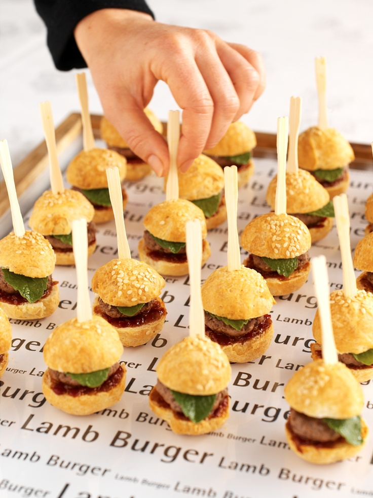 @ SKYCITY Convention Centre, mini lamb burgers on sticks