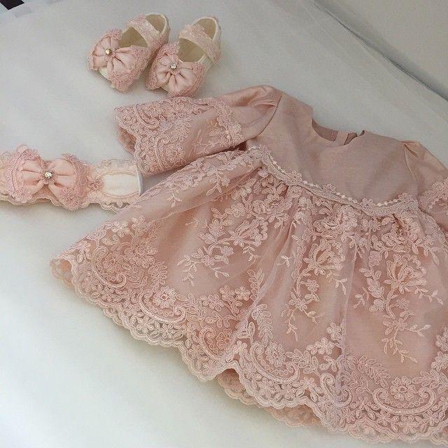 2016 ve 2017 Kız Bebek Mevlüt Elbiseleri - Kız Bebekler için Gelinlik gibi Tüllü Elbiseler, Mevlüt Elbisesi-15