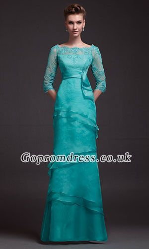 long sleeves prom dress