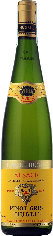 """Jubilee Hugel Pinot Gris """"Hugel"""" Alsace A.O.C. Silnie skoncentrowany bukiet, pachnący owocami czerwonego grejpfruta, pełen mineralnych nut. Potężna struktura tego trunku zwiastuje długi potencjał dojrzewania. Mnóstwo niuansów perfum i czysta, długa końcówka. #Wino #Hugel #Alzacja #Winezja #Pinot #Gris"""