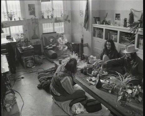 Hippies en hun woonkamer