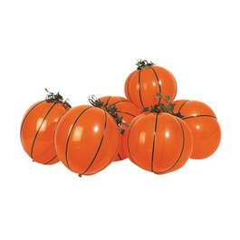 Pumpkin balloon kits...rent a helium tank, insert small glow stick, and the trick-or-treaters will be nominating you best house on the block ;)