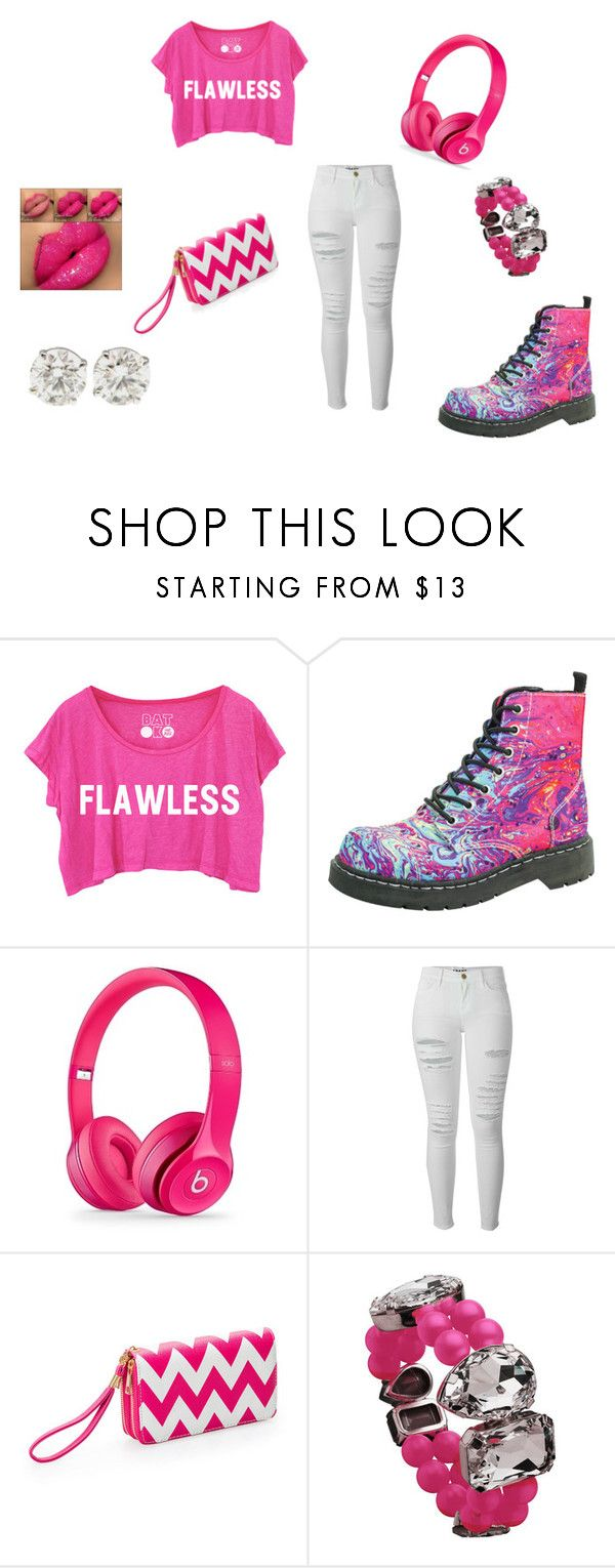 """PINK!!!"" by ladaijamitchell ❤ liked on Polyvore featuring T.U.K., Frame, Ashley Stewart and Eklexic"