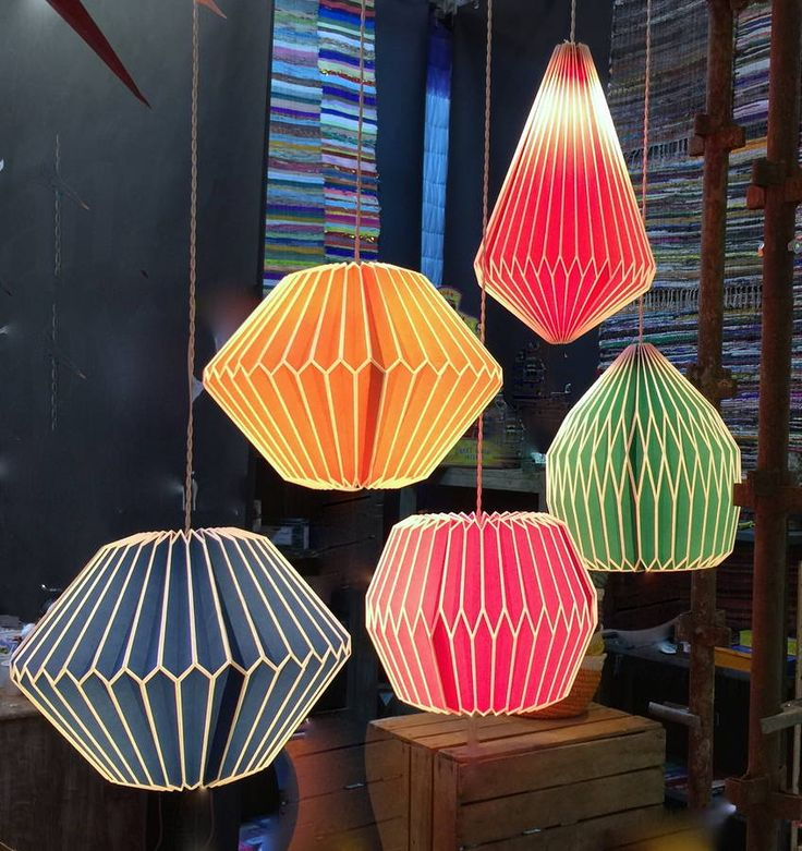 Festival pleated ceiling light shades by Forest and Co on Not on the high st £27