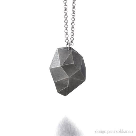 "Design Päivi Sohkanen, ""Ark!""-necklace, silver www.paivisohkanen.fi"