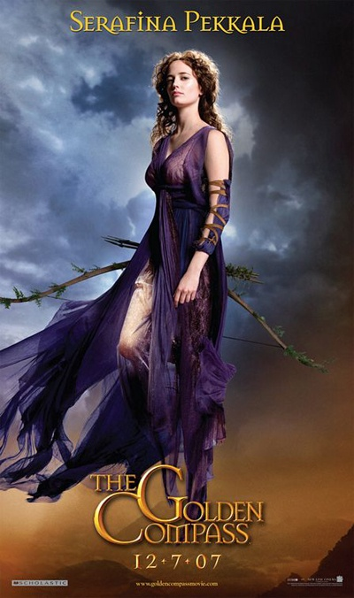 """Seraphina Pekkala the """"hag"""" witch as played by Eva Green. From Philip Pullman's His Dark Materials trilogy. (aka that series whence cometh the Golden Compass movie)"""