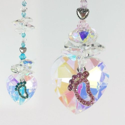 Baby Suncatcher 1 - BBSC001 - Crystal Suncatchers, Stick on Stained Glass, Leadlight Adhesive Overlay - Just Like Leadlight
