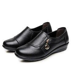 #Banggood Чистый цвет круглый носок клин пятки мягкие ботинки (1113116) #SuperDeals