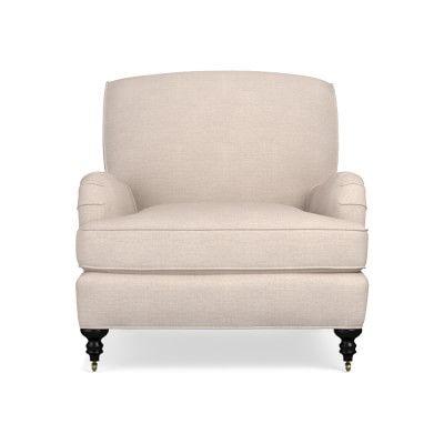 Bedford Chair, Standard Cushion, Sunbrella Performance Cross Weave, Pebble, Natural Leg
