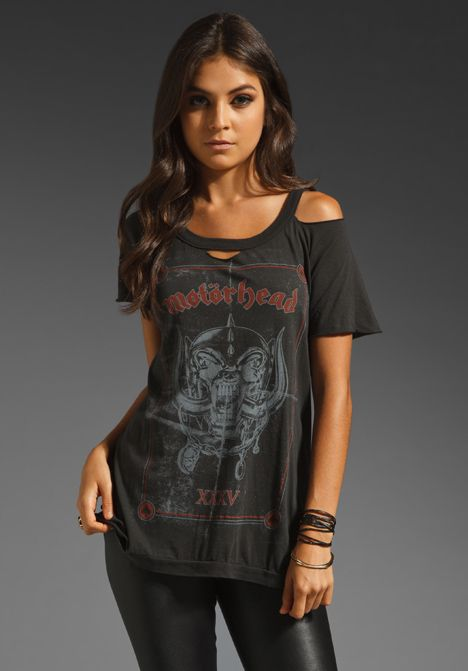"CHASER ""XXXV"" Motorhead Deconstructed Tee in Black at Revolve Clothing"